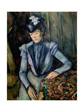 Lady in Blue (Madame Cézann)  C1900