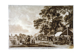 Army Camp in Hyde Park  London  1780