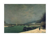 The Seine Near the Pont De Jena  1875