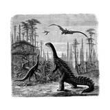 Ideal Jurassic Landscape in America  1884
