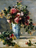 Roses and Jasmine in a Delft Vase  1880-1881