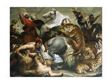 Tiger  Lion and Leopard Hunt  1616