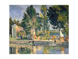 Jas De Bouffan, the Pool, C1876 Giclée par Paul Cézanne