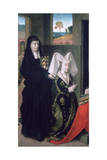 Isabel of Portugal with St Elizabeth  1457-1460