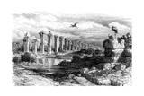 Roman Aqueduct  Merida  Spain  19th Century