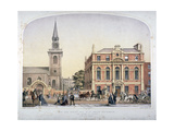 St James's Church  Piccadilly and the New Vestry Hall  London  C1856