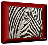 zebras abstract Gallery-Wrapped Canvas