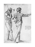 Two Male Nude Studies  1515
