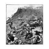 92nd Gordon Highlanders in Retreat  Battle of Majuba Hill  1st Boer War  26-27 February 1881