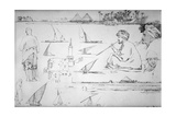 Sketches Along the Nile  Egypt  C1842