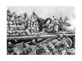 The Nawab Siraj Ud Daulah's Artillery on its Movable Platform  India  1757