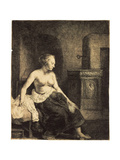 Half-Naked Woman by a Stove  1658