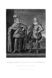Christian Iv  King of Denmark  with His Eldest Son Frederick