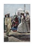 A Street Conjurer in Algiers  1895