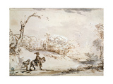 Landscape with a Horseman  1648-1650