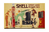 Poster Advertising Shell Spirit and Motor Oils