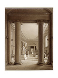 Egyptian Gallery in the British Museum  London  C1840