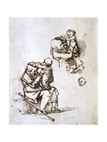 Old Man Playing with Child  1635-1640