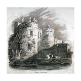 South View of the Tower of London with Figures on Horseback  C1810