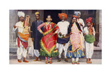 Nautch Dancing Girls with Accompanying Musicians  India  1922