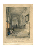 The Chancel of Hucknall Church  Nottinghamshire  1835