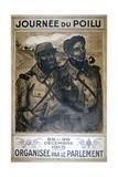 Journée Du Poilu 25 Et 26 Décembre 1915  French World War I Poster  1915