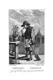 Gardener Smelling a Carnation or Pink (Dianthu)  C1750
