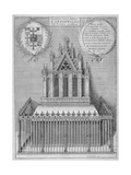 Monument to Saint Erkenwald in Old St Paul's Cathedral  City of London  1656