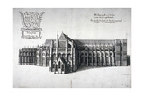 North View of Westminster Abbey  London  1654