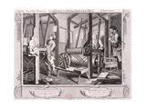 The Fellow Prentices at their Looms  Plate I of Industry and Idleness  1747