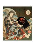 Yama-Uba with Kintaro  1840S