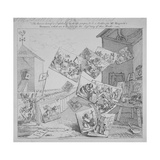 The Battle of the Pictures  a Bidder's Ticket for Hogarth's Auction of 19 Paintings  1744