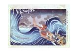 Nichiren Calming the Storm  19th Century