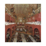 Banquet at the Guildhall  City of London  1814