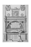 Monument of Sir Paul Heneage in Old St Paul's Cathedral  City of London  1656
