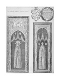 Brasses of John Newcourt and Brome Whorewood in Old St Paul's Cathedral  City of London  1656