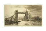 Tower Bridge Viewed from the River Thames  London  C1894-1931