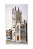 St Alban's Church  Wood Street  London  1824