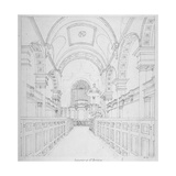 St Bride's Church  Fleet Street  City of London  1815
