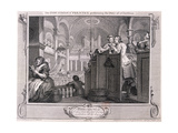 The Industrious Prentice Performing the Duty of a Christian  from Industry and Idleness 1747
