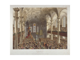 Interior of the Church of St Martin-In-The-Fields  Westminster  London  1809