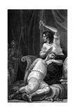 Delilah Cutting Samson's Hair  Thus Taking Away His Strength  1820