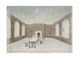 Interior of the Condemned Room in Newgate Prison  Old Bailey  City of London  1810
