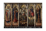 Madonna and Child with Saints (Polyptych  Five Separate Panel)  C1480