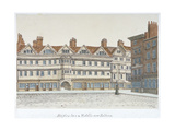 View of Staple Inn and the Buildings of Middle Row in the Centre of Holborn  London  1850