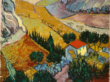 Landscape with House and Ploughman, 1889 Giclée par Vincent Van Gogh