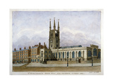Church of St Sepulchre  Snow Hill  City of London  1802