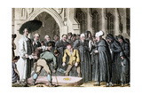 Dr Syntax Watching His Wife's Coffin Being Lowered into the Grave  1820