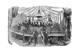 Naturalists Dining Inside a Model of a Dinosaur  Crystal Palace  Sydenham  New Year's Eve  1853