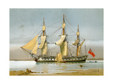 A Royal Navy 42 Gun Frigate  C1780